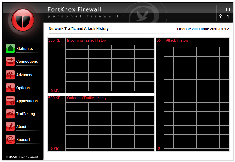 Click to View Full ScreenshotFortKnox Personal Firewall 6.0.205 screenshot